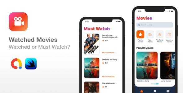 Watched Movies - SwiftUI iOS app template