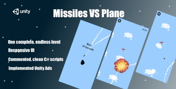 Missiles VS Plane - Complete Unity Game - CodeCanyon Item for Sale