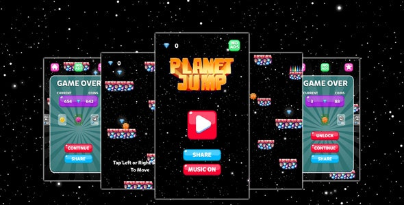 Planet Jump Game Template - CodeCanyon Item for Sale