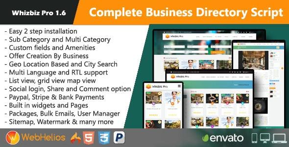 Whizbiz Pro - Complete Business Directory Script