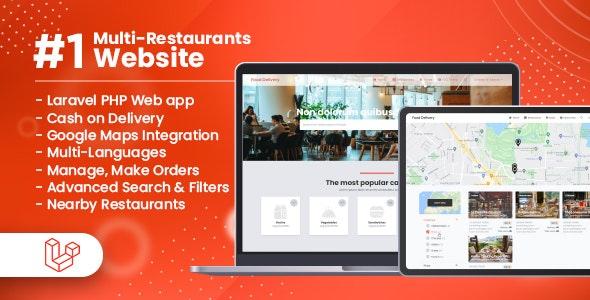 Customer Website For Multi-Restaurants Laravel App v1.0.0