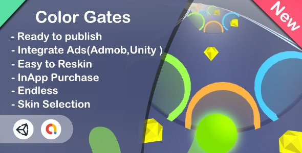 Color Gates 3D(Unity Game+Admob+iOS+Android) - CodeCanyon Item for Sale
