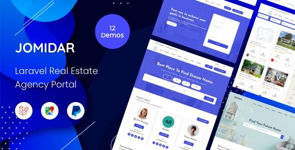 Jomidar - Laravel Real Estate Agency Portal - CodeCanyon Item for Sale