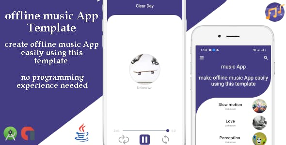 offline music App template with admob.