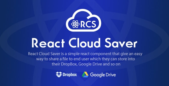 React Cloud Saver - React Component for File Sharing - CodeCanyon Item for Sale