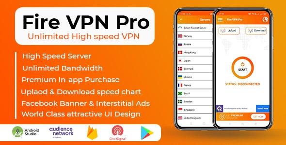 Fire VPN Pro v1.2 – Unlimited High Speed VPN