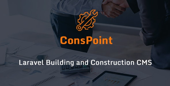 ConsPoint - Laravel Building and Construction CMS - CodeCanyon Item for Sale