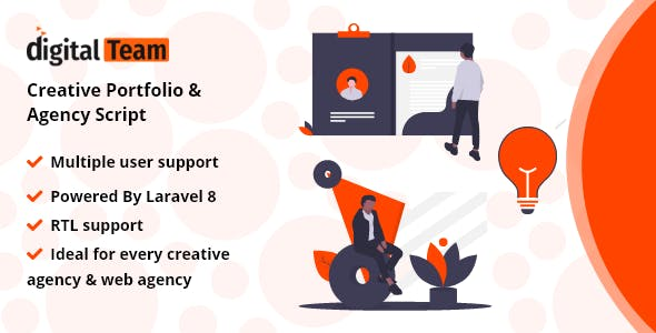 DigitalTeam - Creative Portfolio & Agency Script
