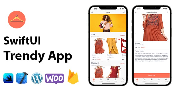 SwiftUI Trendy App | Woocommerce Full iOS Application - CodeCanyon Item for Sale