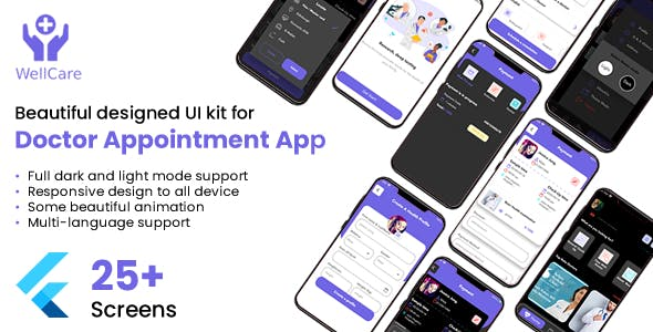 Well Care Doctor Appointment App UI Kit
