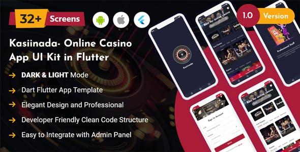 Kasiinada - Online Casino App UI Kit in Flutter