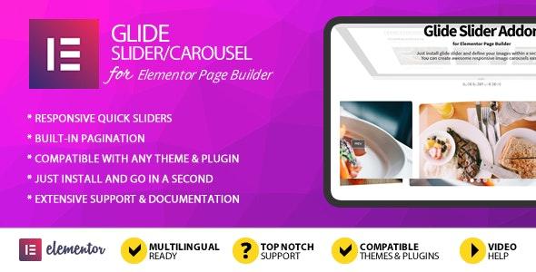 Glide Slider Addon for Elementor Page Builder - CodeCanyon Item for Sale