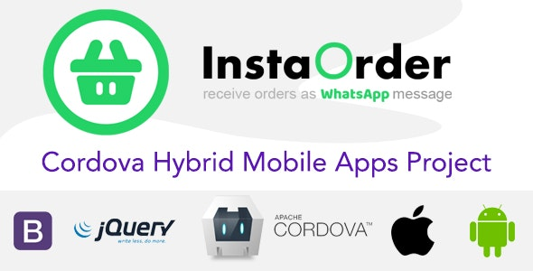 InstaOrder - Orders using WhatsApp - Hybrid Mobile Apps - Cordova | iOS | Android - CodeCanyon Item for Sale