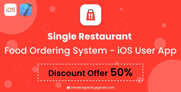 Single Restaurant - iOS User App - CodeCanyon Item for Sale