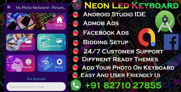 Neon Light Keyboard With Admob & Fcaebook Ads