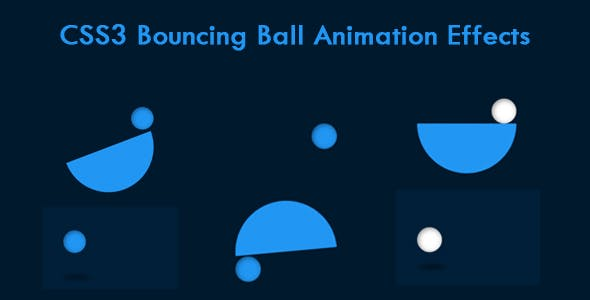 CSS3 Bouncing Ball Animation Effects