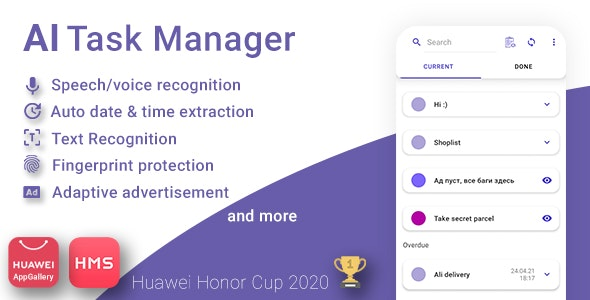 AI Task Manager WordNote - With Huawei Mobile Services - CodeCanyon Item for Sale