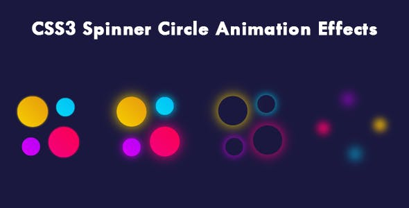 CSS3 Spinner Circle Animation Effects