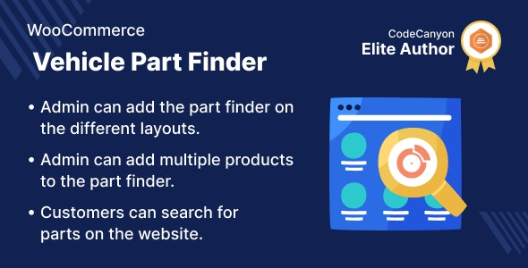 WooCommerce Vehicle Part Finder - CodeCanyon Item for Sale