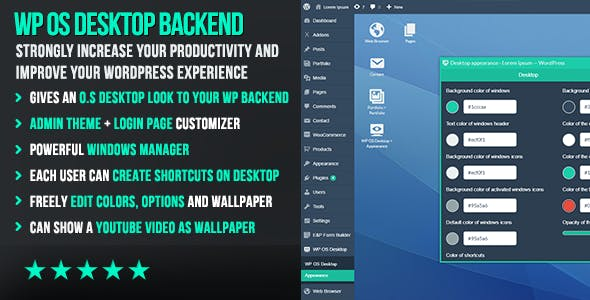 WP OS Desktop Backend - More than a Wordpress Admin Theme