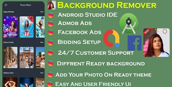 Background Remover With Admob & Facebook Ads - CodeCanyon Item for Sale