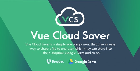 Vue Cloud Saver - Vue Component for File Sharing - CodeCanyon Item for Sale