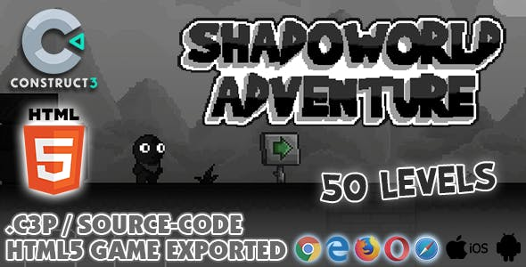 Shadoworld Adventure HTML5 Game - With Construct 3 All Source-code