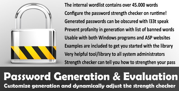Password Generation and Evaluation - CodeCanyon Item for Sale