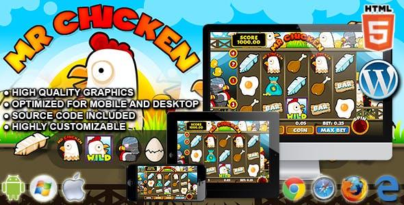 Slot Machine Mr Chicken - HTML5 Casino Game