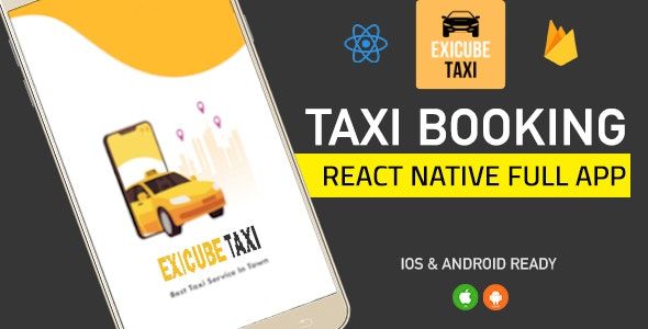 Exicube Taxi App - CodeCanyon Item for Sale