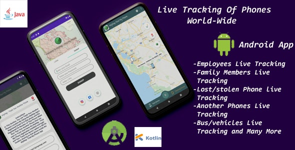 Phone Tracker - RealTime GPS Live Tracking of Phones, Find Lost/Stolen Phones WorldWide with MyMap 2 - CodeCanyon Item for Sale