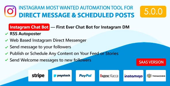 DM Pilot — Instagram Chat Bot, Web Direct Messenger & Scheduled Posts