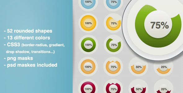 Rounded CSS3 Shapes - Buttons With Gradients