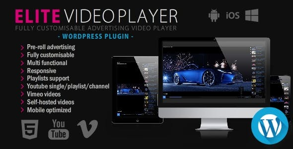 Elite Video Player - WordPress plugin
