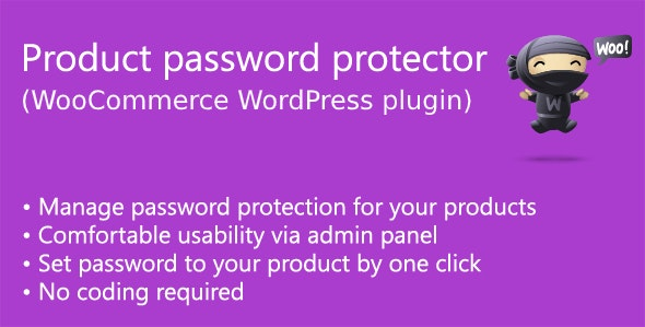 Product password protector for WooCommerce - CodeCanyon Item for Sale