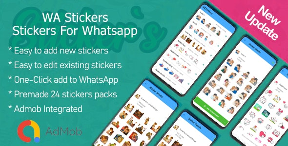 WA Stickers - Stickers For Whatsapp - CodeCanyon Item for Sale