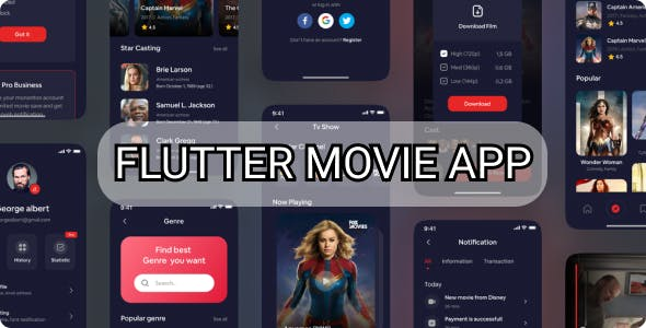 Flutter Complete Movie App - android and ios