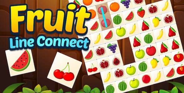 Fruit Line Connect + Top Puzzle Game + Ready For Publish (Android + IOS)