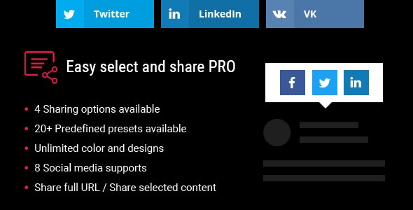 Easy Select and Share Pro - CodeCanyon Item for Sale