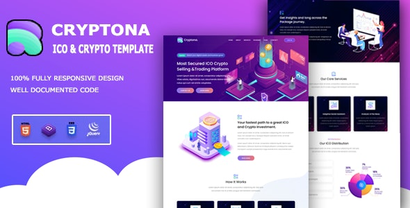 Cryptona - ICO and Crypto Template - CodeCanyon Item for Sale