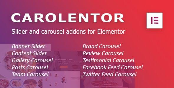 Carolentor: Advanced slider and carousel addons for Elementor WordPress plugin