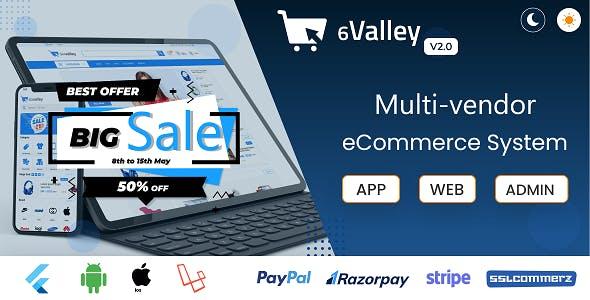6valley Multi-Vendor E-commerce - Complete eCommerce Mobile App, Web and Admin Panel V2.0