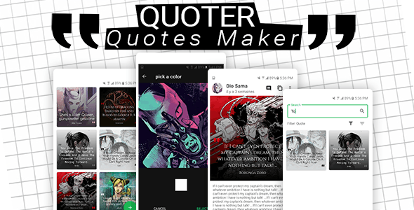 Quoter - Quotes Maker - CodeCanyon Item for Sale