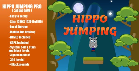 Hippo Jumping PRO | Construct 2