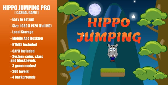 Hippo Jumping PRO | Construct 2 - CodeCanyon Item for Sale