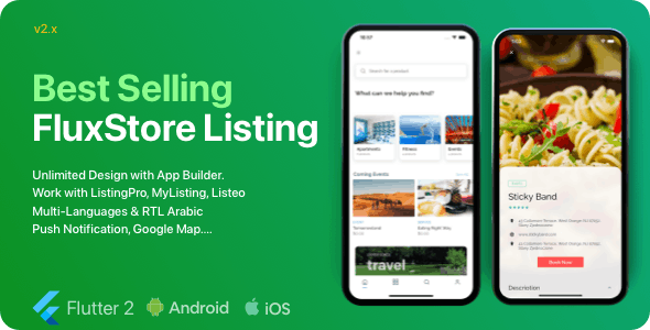 FluxStore Listing v2.2.0 – The Best Directory WooCommerce app by Flutter