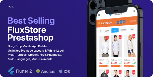 Fluxstore Prestashop - Flutter E-commerce Full App