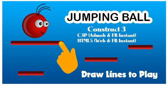 Jumping Ball Game (Construct 3 | C3P | HTML5) Admob and FB Instant Ready
