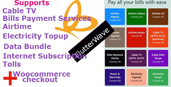 Flutterwave Payment Solutions and Bills Payment Services - CodeCanyon Item for Sale