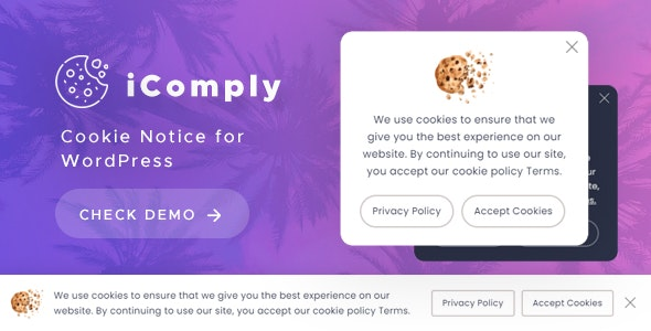 iComply - Cookie Notice for WordPress - CodeCanyon Item for Sale